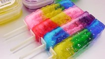 DIY How To Make Glitter Colors Icecream Jelly Slime Frozen DIY Learn Colors Slime Clay Surprise Egg