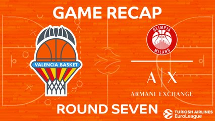 EuroLeague 2017-18 Highlights Regular Season Round 7 video: Valencia 98-103 AX Milan