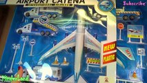 International Toy Airplane Playset airport catena plane Airbus 380 UNBOXING TOYS