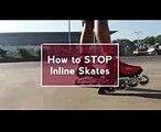 How to STOP Inline Skates  New Skating Brake Tutorial 2017  Skating 71