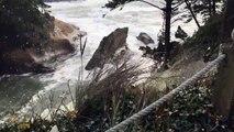 Windy Weather Churns Up Sea Foam 'Snow' Storm
