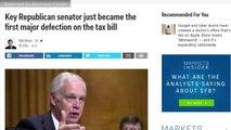 Key Republican Senator Announces Defection On Tax Bill
