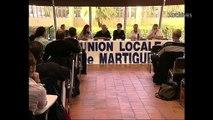 La passation de témoin de Georges Capozi au sein de l'UL CGT de Martigues.