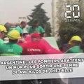 Argentine: Les pompiers abattent un mur pour emmener une femme de 490 kilos à l'hôpital