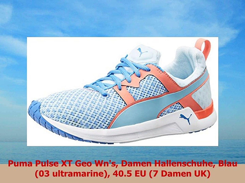 Puma Pulse XT Geo Wns Damen Hallenschuhe Blau 03 ultramarine 405 EU 7 Damen UK