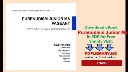Pageant purenudism Disturbing AF