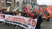 Mobilisation contre la loi travail à Saint-Brieuc.