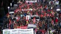 FO et CGT dans la rue à Marseille contre les réformes libérales