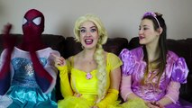 Frozen Elsa CLOTHES SWAP CHALLENGE w_ Spiderman Belle Rapunzel Joker Fun Superhero in real life IRL | Superheroes | Spiderman | Superman | Frozen Elsa | Joker
