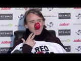 Mancini celebrates Red Nose Day