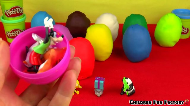 Play Doh Surprise Eggs Disney Cars 2 Hello Kitty Mickey Mouse Peppa Pig Masha i Medved MLP