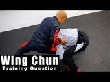 Wing Chun training - wing chun chi sao mma take down Q38