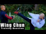 Wing Chun training - wing chun how to deal surprise attack with a bat Q46
