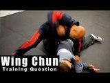 Wing Chun training - wing chun how to respond with chi sao Q41