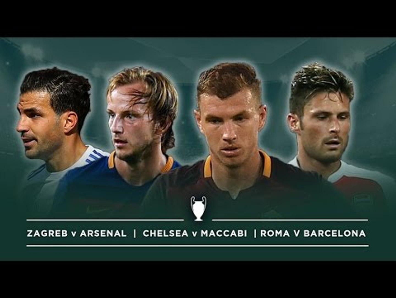 ROMA V BARCA, ZAGREB V ARSENAL, CHELSEA V MACCABI | #FDW UCL PREVIEW