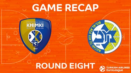 EuroLeague 2017-18 Highlights Regular Season Round 8 video: Khimki 69-77 Maccabi