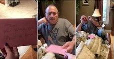 Homem fica lavado em lágrimas ao receber um presente depois da morte dos seus dois cães