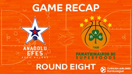 EuroLeague 2017-18 Highlights Regular Season Round 8 video: Efes 81-82 Panathinaikos