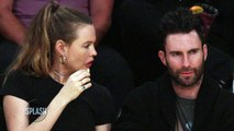 Adam Levine and Behati Prinsloo Attend Lakers Game