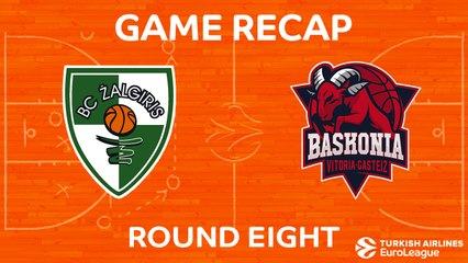 EuroLeague 2017-18 Highlights Regular Season Round 8 video: Zalgiris 77-97 Baskonia