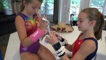 Gymnastics Grips and Salsa | Whitneys Kitchen Gymnastics