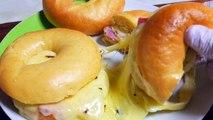 チーズたっぷり韓国コンビニのチーズキングベーグル風ベ�