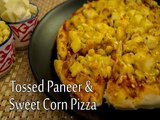 How To Prepare Tossed Paneer And Sweet Corn Pizza | Sweet Corn Pizza Recipe | Boldsky