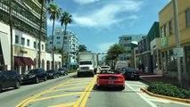 Driving Downtown - Collins Avenue - Miami Beach Florida USA