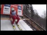 NAKED STREAKER SKI: TV 24.03.2013 - Flying Hill Planica (SLO) - Streaker steals show of Piotr Zyla