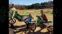 Taking the kx 450f the KX 65 the ssr 110dx and the family to ScrubNDirt!!!