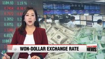 Won-to-dollar exchange rate records below 1,100 during trading hours Thursday