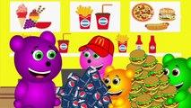 Mega Gummy Bear New Giant Piggy Bank Funny Cartoon Finger Family Nursery Rhymes