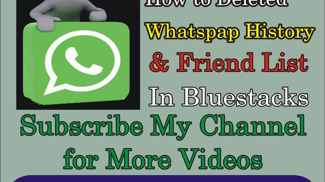 How to Delete Whatsapp History and Friends List in Bluestacks Software