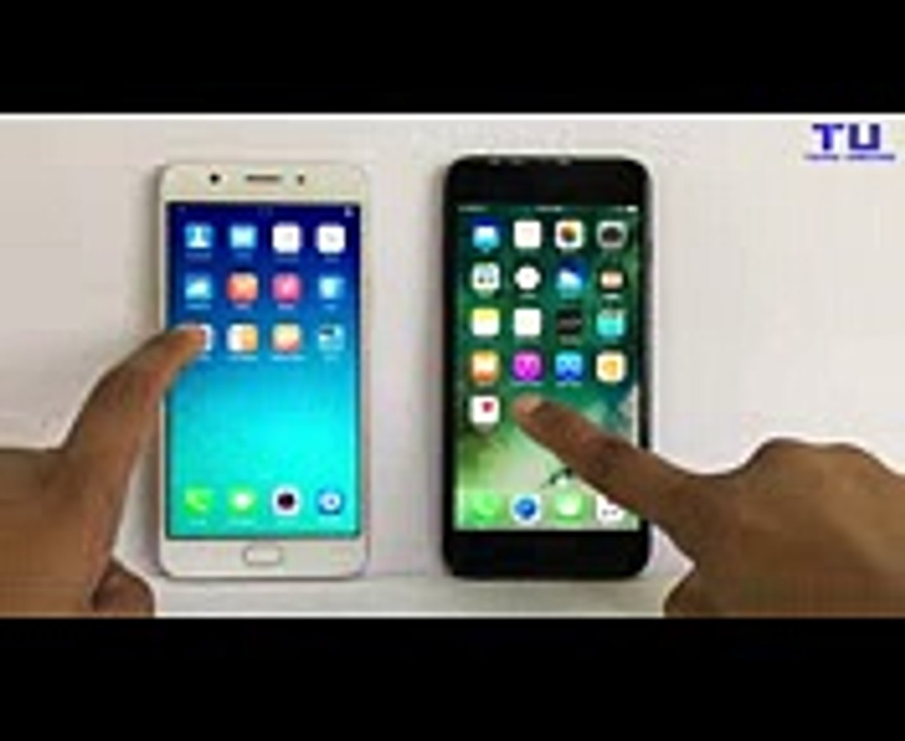 Oppo F1s vs iPhone 7 Plus Speed Test!