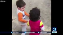 """Watch: The little boy, in an earthquake hit area, brings his friend saying """"you didn't give her food."""""""