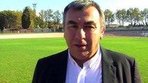 Le président du Racing Club Martigues Port de Bouc Yves Pontal avant le derby face à Berre