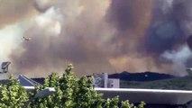 feu de Martigues sud: 2 canadairs viennent d'arriver (video)