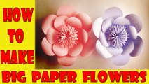 How to Make Big Flower paper ,  paper flower step by step ,   paper flower making Tutorial videos ,  how to make paper flowers at home ,  paper craft 2017
