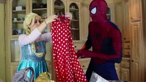 Frozen Elsa GETTING READY FOR THE BALL w_ Spiderman Dance Challenge Fun Superhero in real life IRL | Superheroes | Spiderman | Superman | Frozen Elsa | Joker