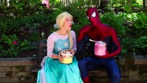 Frozen Elsa ICE CREAM SUNDAE CHALLENGE w_ Spiderman World's Largest Fun Superhero in real life IRL | Superheroes | Spiderman | Superman | Frozen Elsa | Joker