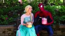 Frozen Elsa ICE CREAM SUNDAE CHALLENGE w_ Spiderman World's Largest Fun Superhero in real life IRL | Superheroes | Spiderman | Superman | Frozen Elsa | Joker