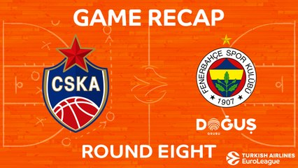 EuroLeague 2017-18 Highlights Regular Season Round 8 video: CSKA 93-95 Fenerbahce