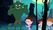 Schoolies visit the MONSTER ISLAND full of scary monsters in this HALLOWEEN song by Kids Channel