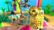 Learn Wild Animals, Kids Zoo Toys, Cheetah Lion Wolf Zebra Orangutan Jaguar Hippo Polar Bear