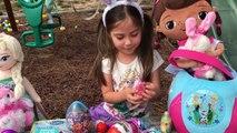 HUGE FROZEN SURPRISE EGG BASKET with Eggs Surprises Toys Inside Maxi Kinder Surprise Egg Paw Patrol
