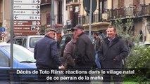 Décès de Toto Riina: réactions dans son village natal