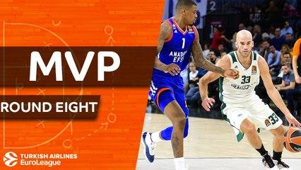 Round 8 MVP: Nick Calathes, Panathinaikos