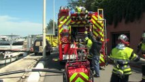 Des images des dégâts et les explications du sergent-chef Sabatier des sapeurs-pompiers de Martigues