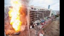 Les photos les plus, spectaculaires du feu de la rue Peyssonnel ( photos Stéphane Besse, BMPM)