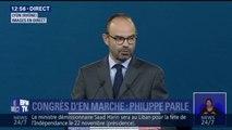 """""""Votre mouvement est en marche, rien ne l'arrêtera"""", déclare Edouard Philippe au congrès de la République en Marche"""
